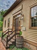 Historisk skolhus Roscoe Village Coshocton, Ohio arkivfoto