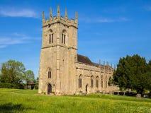 Historisk slagfältkyrka i Shrewsbury, England Arkivfoto