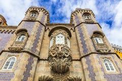 Historisk slott av Pena i Portugal Arkivfoton