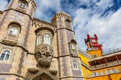 Historisk slott av Pena i Portugal Arkivbilder