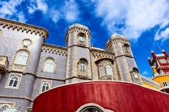 Historisk slott av Pena i Portugal Royaltyfri Fotografi