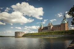 Historisk slott i Kalmar Sverige Royaltyfri Foto