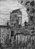 Historisk slott Karlstejn i Tjeckien arkivbild