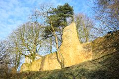 Historisk slott Ravensberg i Borgholzhausen, Westphalia, Tyskland royaltyfria bilder