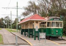 Historisk spårväg på museet av transport, Auckland royaltyfria foton