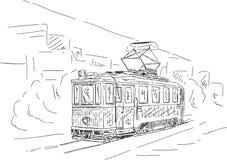 historisk spårvagn Arkivbilder