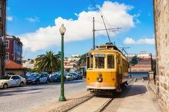 Historisk spårvagn, Porto Arkivfoto