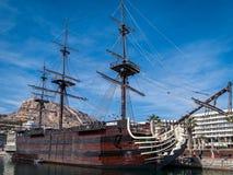 Historisk spansk krigsskepp Royaltyfri Bild