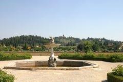 historisk springbrunn royaltyfri fotografi
