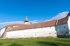 Historisk stärkt saxonkyrka royaltyfri fotografi