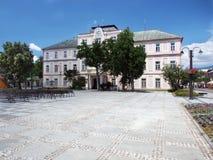 Historisk ståndsmässig korridor i Liptovsky Mikulas royaltyfri bild
