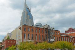 Historisk 1st aveny, Nashville, Tennessee, USA Arkivfoton