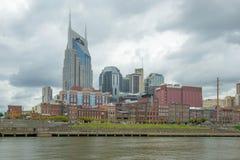 Historisk 1st aveny, Nashville, Tennessee, USA Arkivfoto