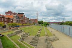 Historisk 1st aveny, Nashville, Tennessee, USA Arkivbild