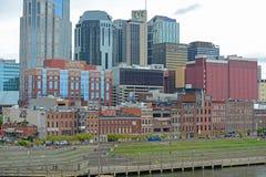 Historisk 1st aveny, Nashville, Tennessee, USA Arkivbilder