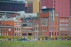 Historisk 1st aveny, Nashville, Tennessee, USA Royaltyfri Foto