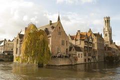 Historisk stad av Bruges Belgien Royaltyfria Foton