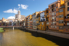 Historisk stad av girona Royaltyfri Bild