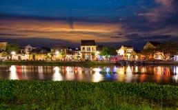 Historisk stad av Hoi An i Vietnam fotografering för bildbyråer