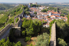 Historisk stad av Obidos Arkivfoto