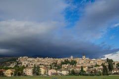 Historisk stad av Spello i Umbria arkivbild
