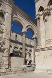 Historisk stad av splittring, Diocletian slott, splittring Royaltyfria Bilder
