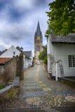 Historisk stad av taggen som är bekant för dess vita hus royaltyfria bilder