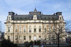 Historisk stad Hall Building, Nowy Sacz, Polen, Europa Royaltyfri Fotografi