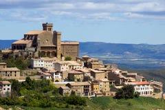 Historisk stad Navarra Spanien för landskap Arkivbild