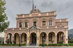 Historisk stadshusbyggnad av Parramatta, Australien royaltyfri fotografi