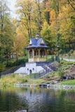 Historisk stadsmitt av Szczawnica, Polen Arkivfoton