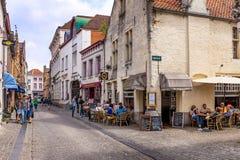 Historisk stadsmitt Bruges Arkivbilder