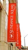 Historisk Sundance fyrkant, Fort Worth Texas Arkivfoto