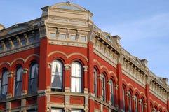 historisk tegelstenbyggnad Arkivfoto
