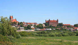 historisk town Arkivfoton