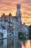 Historisk town av Bruges - Belgien Arkivbild
