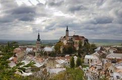 Historisk town Mikulov Arkivbild