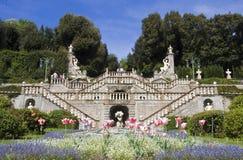 historisk trädgårds- garzoni för collodi Royaltyfri Fotografi