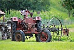 Historisk traktor Arkivfoto