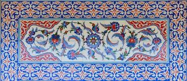 Historisk turk - ottomantegelplattor Royaltyfria Foton