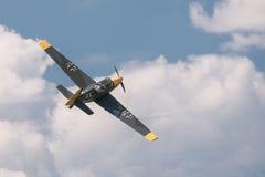 Historisk tysk bombplan Zlin 205 Arkivfoto