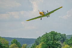 Historisk tysk bombplan Zlin 205 Arkivfoton