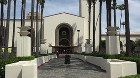 Historisk unionstation i i stadens centrum Los Angeles stock video