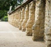 Historisk vägg för tappningBoise fängelse Arkivfoton