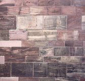 Historisk väggdetalj av den Freiburg domkyrkan Fotografering för Bildbyråer