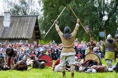 Historisk viking festival Fotografering för Bildbyråer