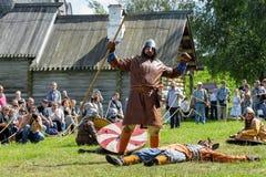 Historisk viking festival Arkivfoton