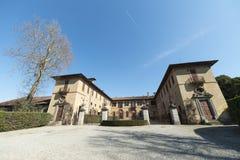 Historisk villa i Brianza Royaltyfri Bild