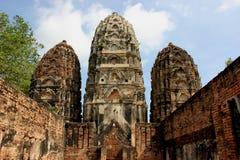 historisk wat för sukhothai för parksawaisi royaltyfria foton