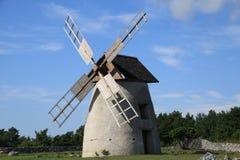 historisk windmill Royaltyfria Bilder
